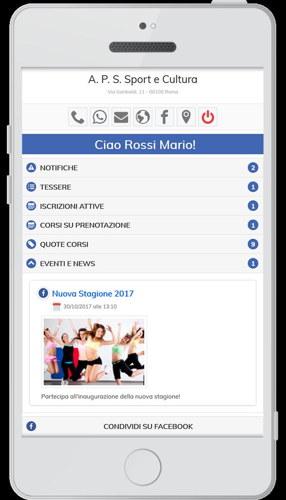 Web App – Eventi e News